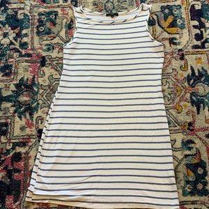 Tart A-line striped jersey tank dress